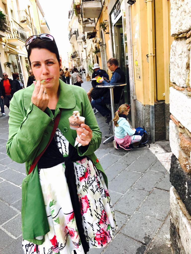 Huisgemaakt ijs van O'Sciality in Taormina