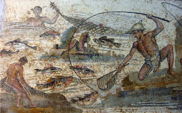 Mozaiek in Nationaal Museum Tripoli Libië