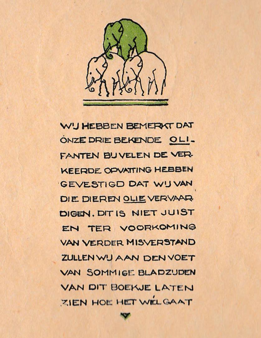 Calvé-Delft's Zomerboekje binnenkant