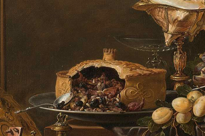Pronkpastei op Pronkstilleven Adriaen van Utrecht 1644_Rijksmuseum