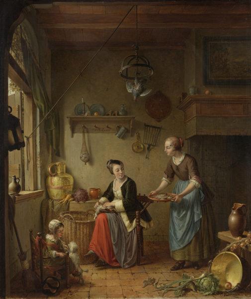 De keuken, Willem Joseph Laquy (ca. 1760-1771) Rijksmuseum Amsterdam