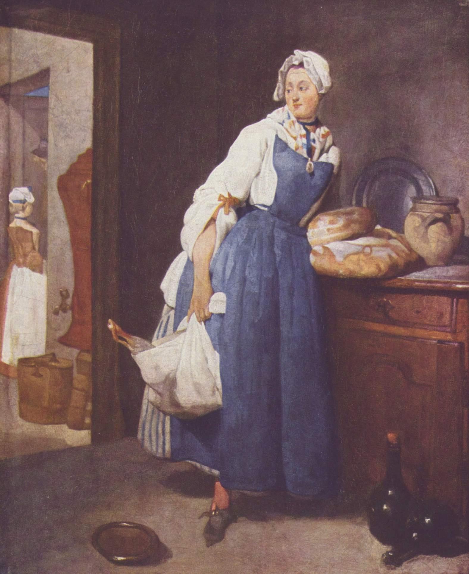 Jean-Baptiste_Siméon_Chardin De Keukenmeid