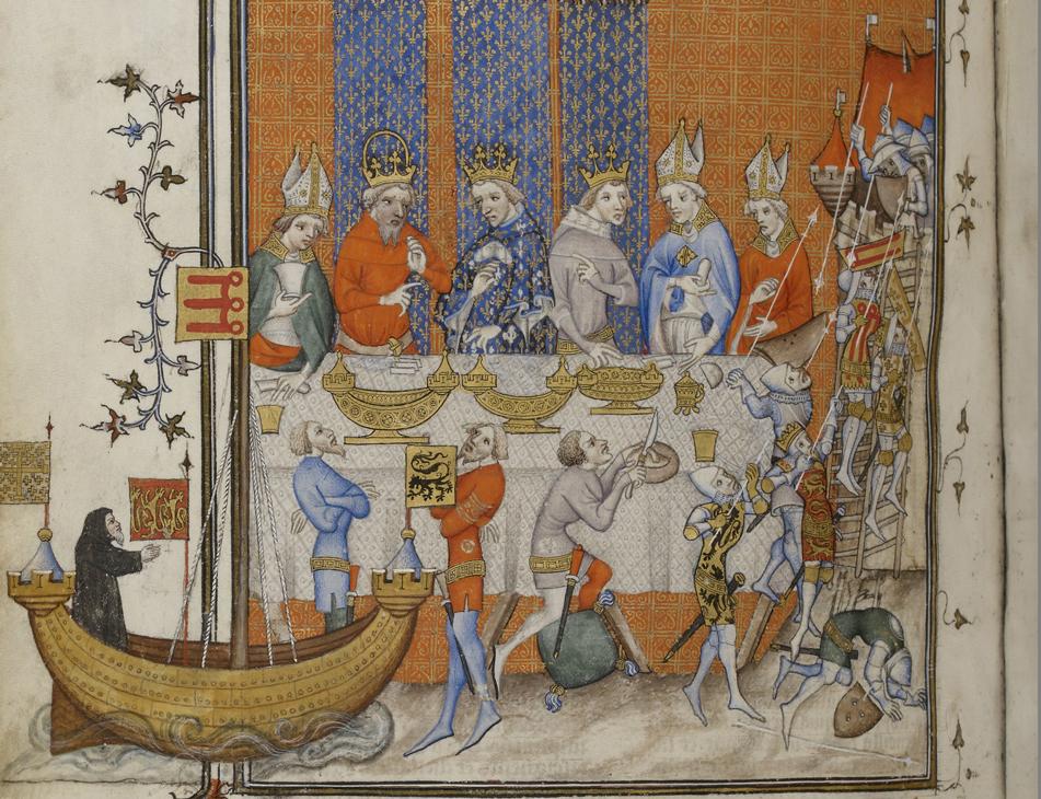 Banket aan het Franse hof van Karel V 14e eeuw