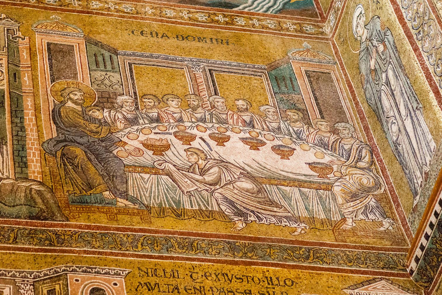 Laatste avondmaal in Cappella Palatina in Palermo