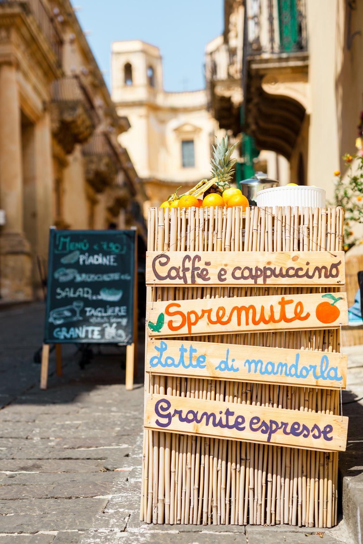 Heerlijke Siciliaanse drankjes in Noto
