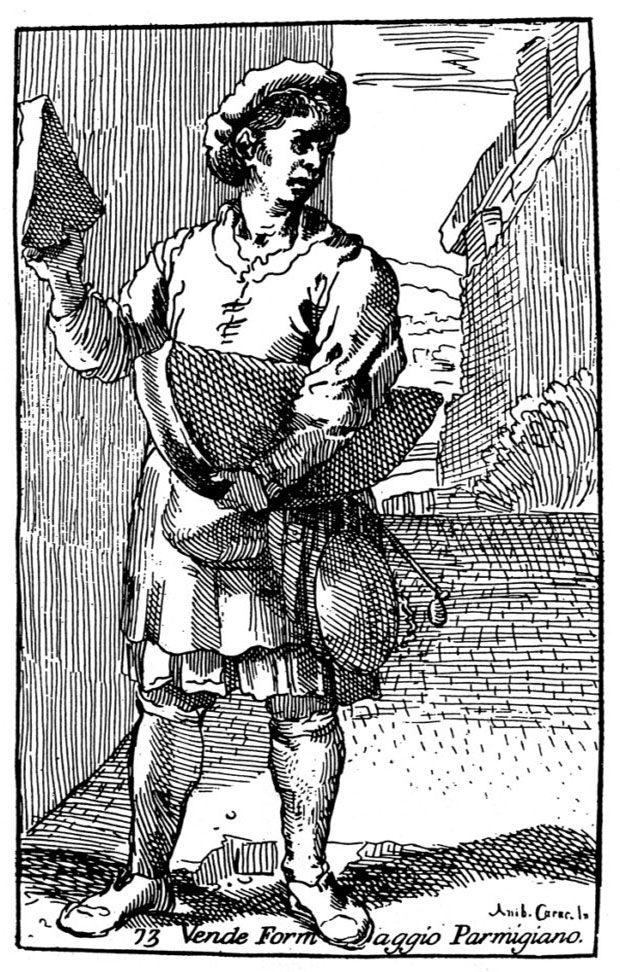 Venditor di Parmigiano van Carracci in Museo Parmigiano
