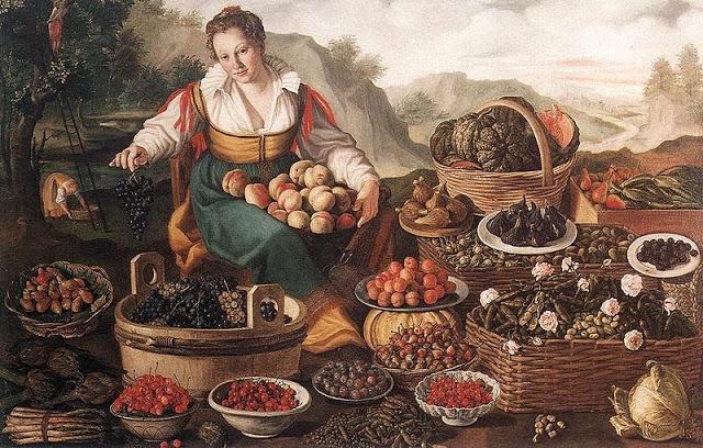 De fruitverkoopster van Vincenzo Campi