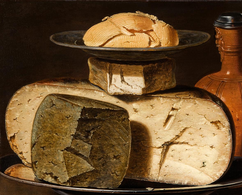Clara Peeters, Stilleven met kaas en boter uit het Mauritshuis, Den Haag