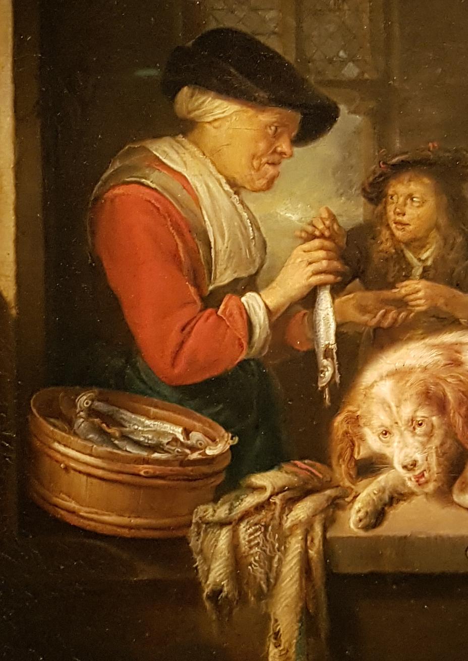 Gerard Dou_Haringverkoopster 1670