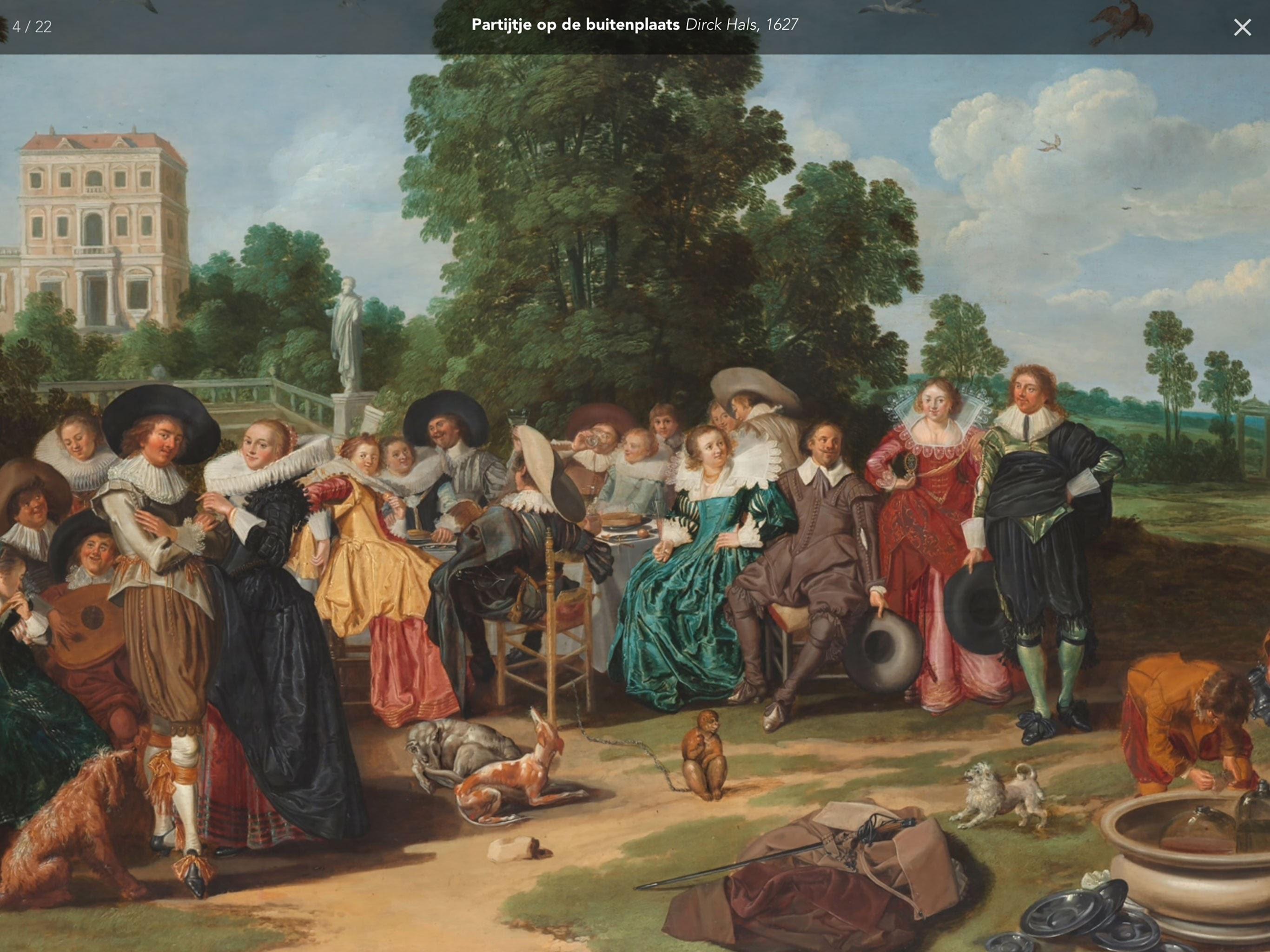 Partijtje op de buitenplaats van Dirk Hals 1627