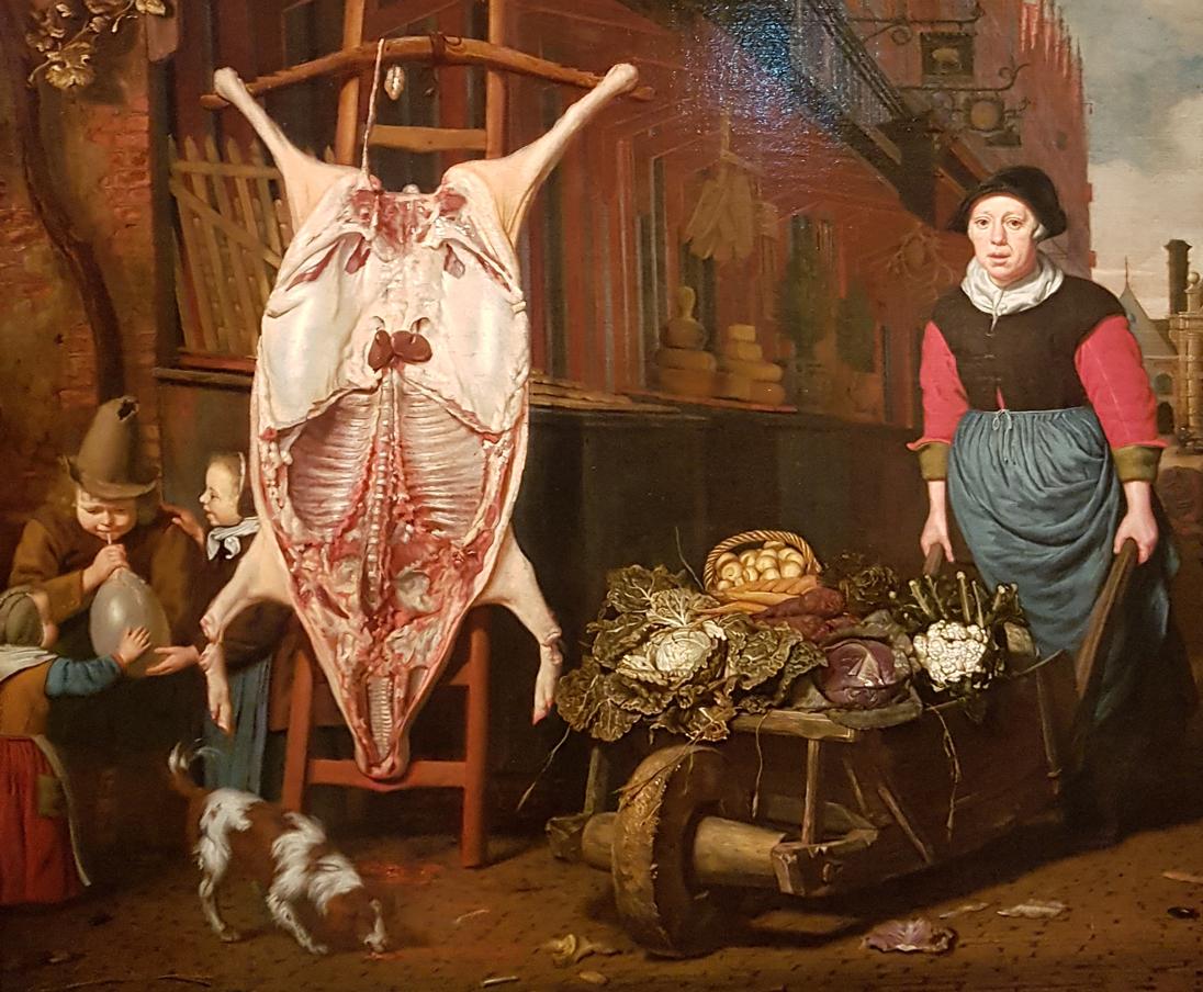 Michiel van Musscher_Varken op de leer 1668