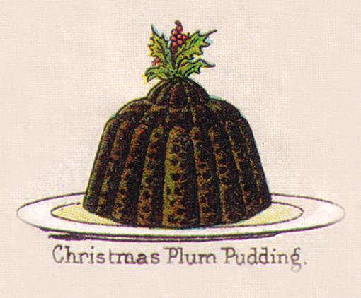 Christmas Plum Pudding van Mrs Beeton uit circa 1890