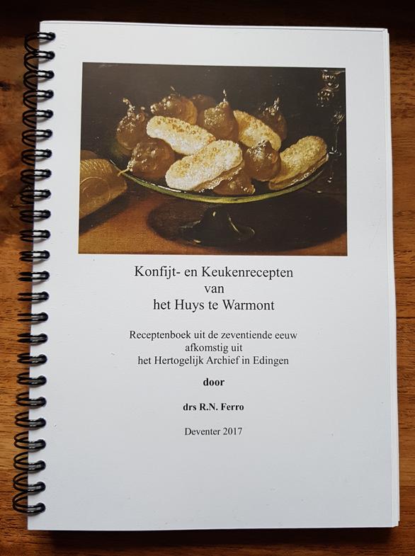 Keukenboek Huys te Warmont door RN Ferro