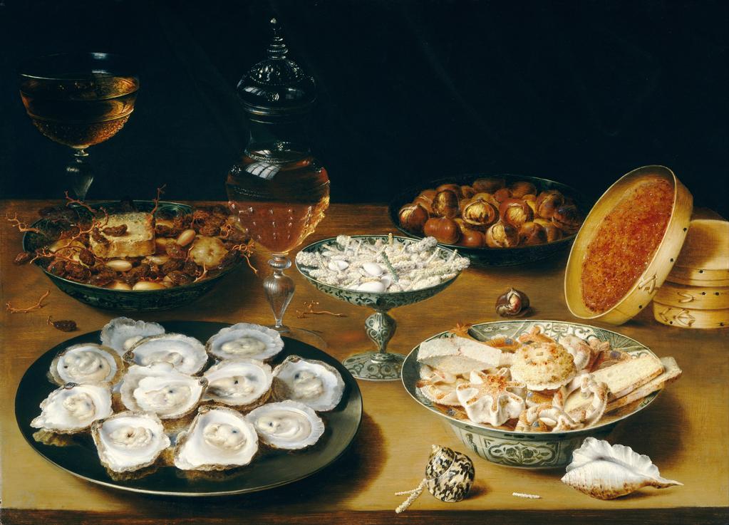 Stilleven met oesters van Osias Beert uit ca. 1610