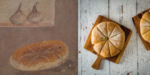 Romeins brood op fresco en naar moderne bewerking