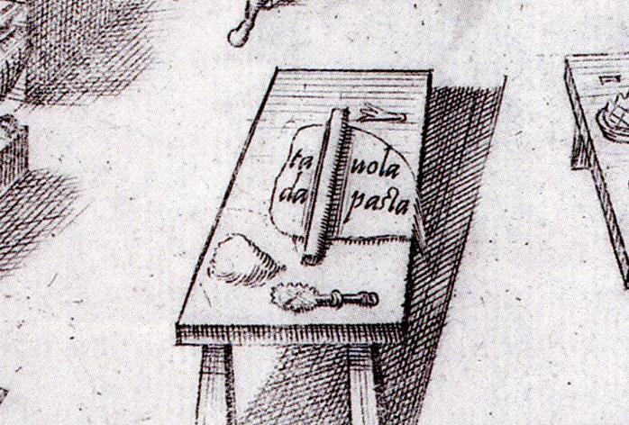 Tavola da pasta uit de Opera van Bartolomeo Scappi
