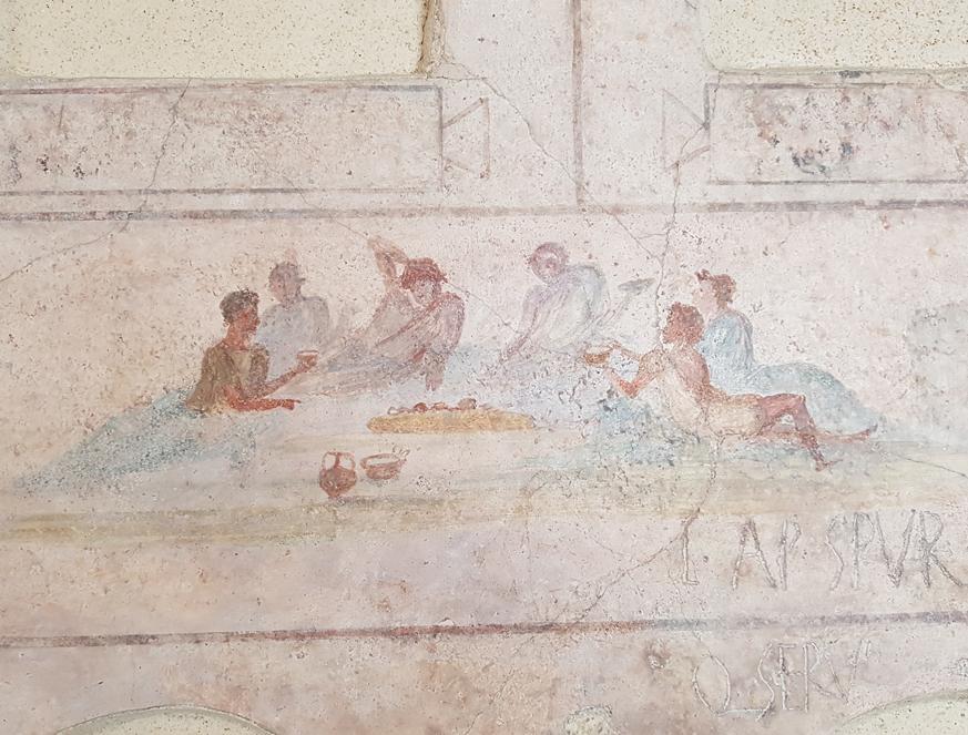 Cena uit het columbarium van Doria Pamphilj in Palazzo Massimo alle Terme