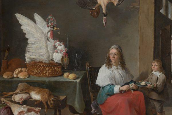David Teniers_Keukenscène met zwaan_Mauritshuis