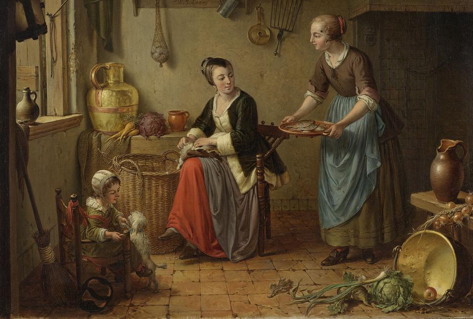 De keuken, Willem Joseph Laquy (ca. 1760-71) Rijksmuseum Amsterdam