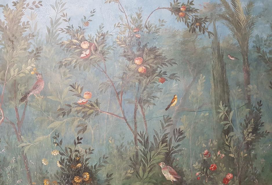 Granaatappel in de tuinkamer van de villa van Livia in Palazzo Massimo alle Terme in Rome