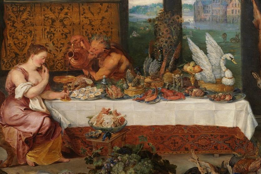 Smaak van Jan Bruegel de Oude en Pieter Paul Rubens in Museo del Prado Madrid (1618)