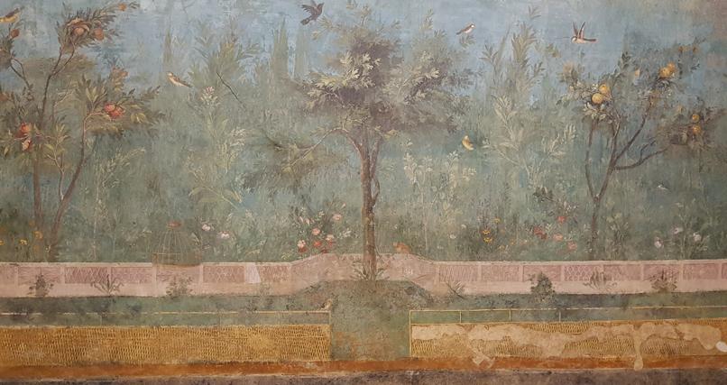 Tuinkamer van de villa van Livia in Palazzo Massimo alle Terme in Rome