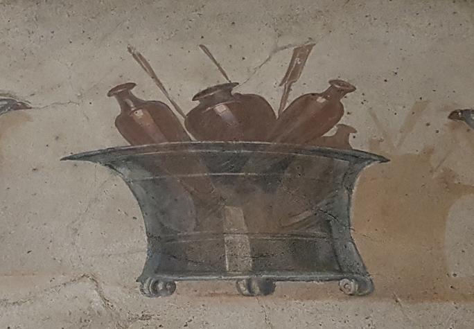 Hoe cool! Een wijnkoeler. Uit een tombe in de buurt van Morlupo. Palazzo Massimo alle Terme