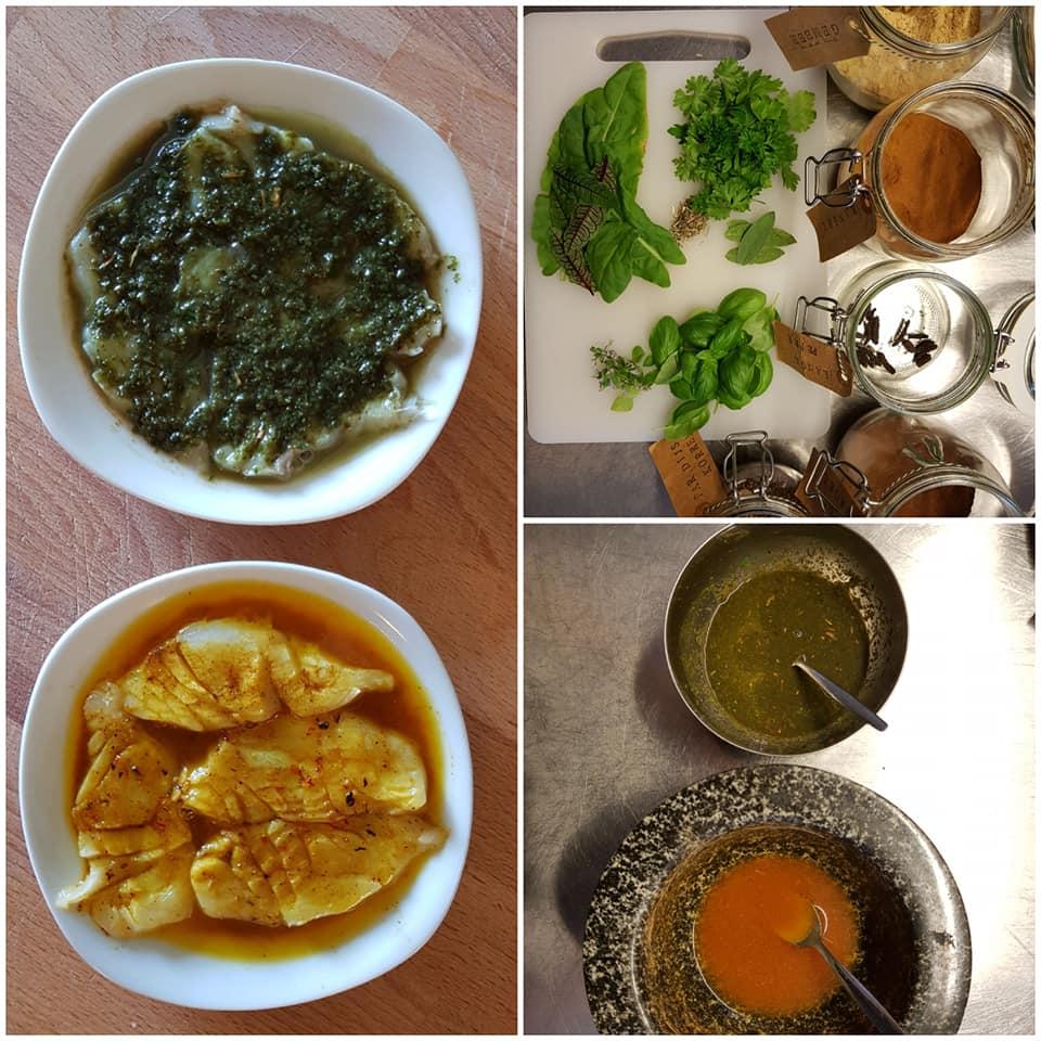 Vis in het zuur voor het middeleeuws kookboekje van eet!verleden