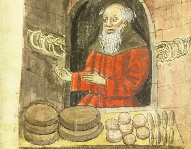 Broodverkoper in de 15e eeuw