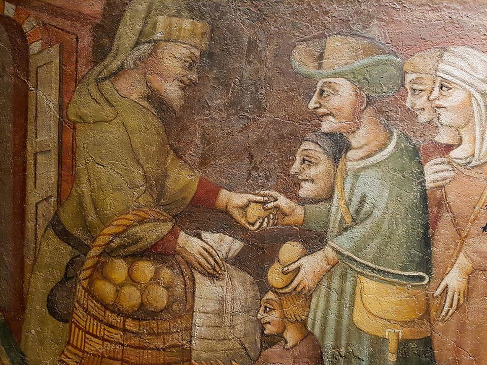 Fresco van Jacopo Loschi, Parma, 15e eeuw
