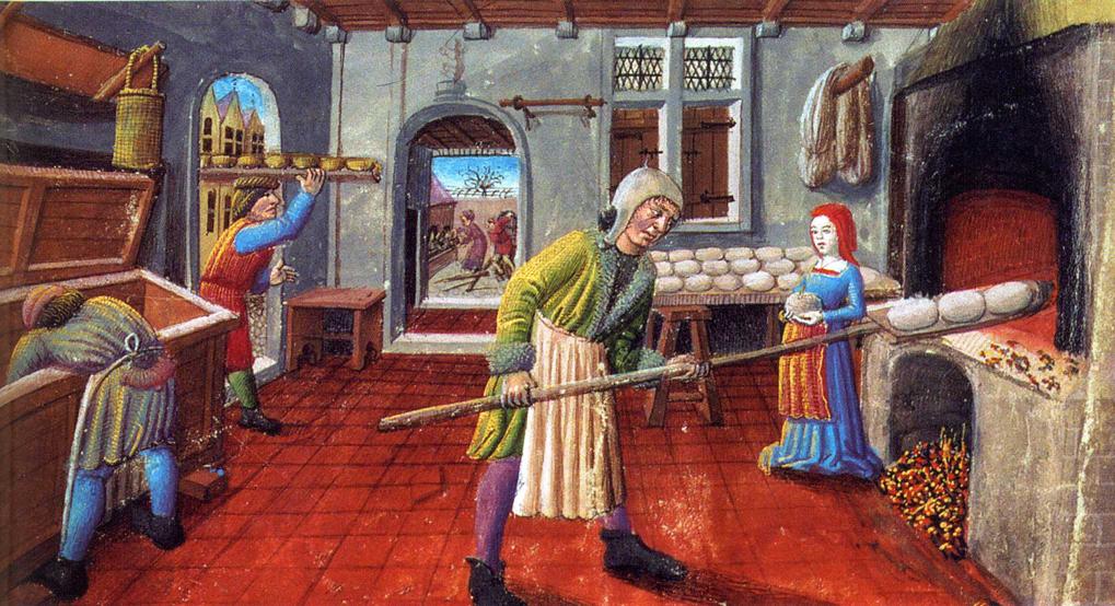 Brood bakken in de middeleeuwen