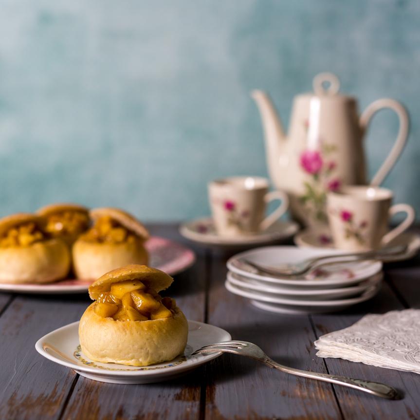 Middeleeuwse appelbroodjes uit mijn kookboek Paradijskorrels & Saffraan