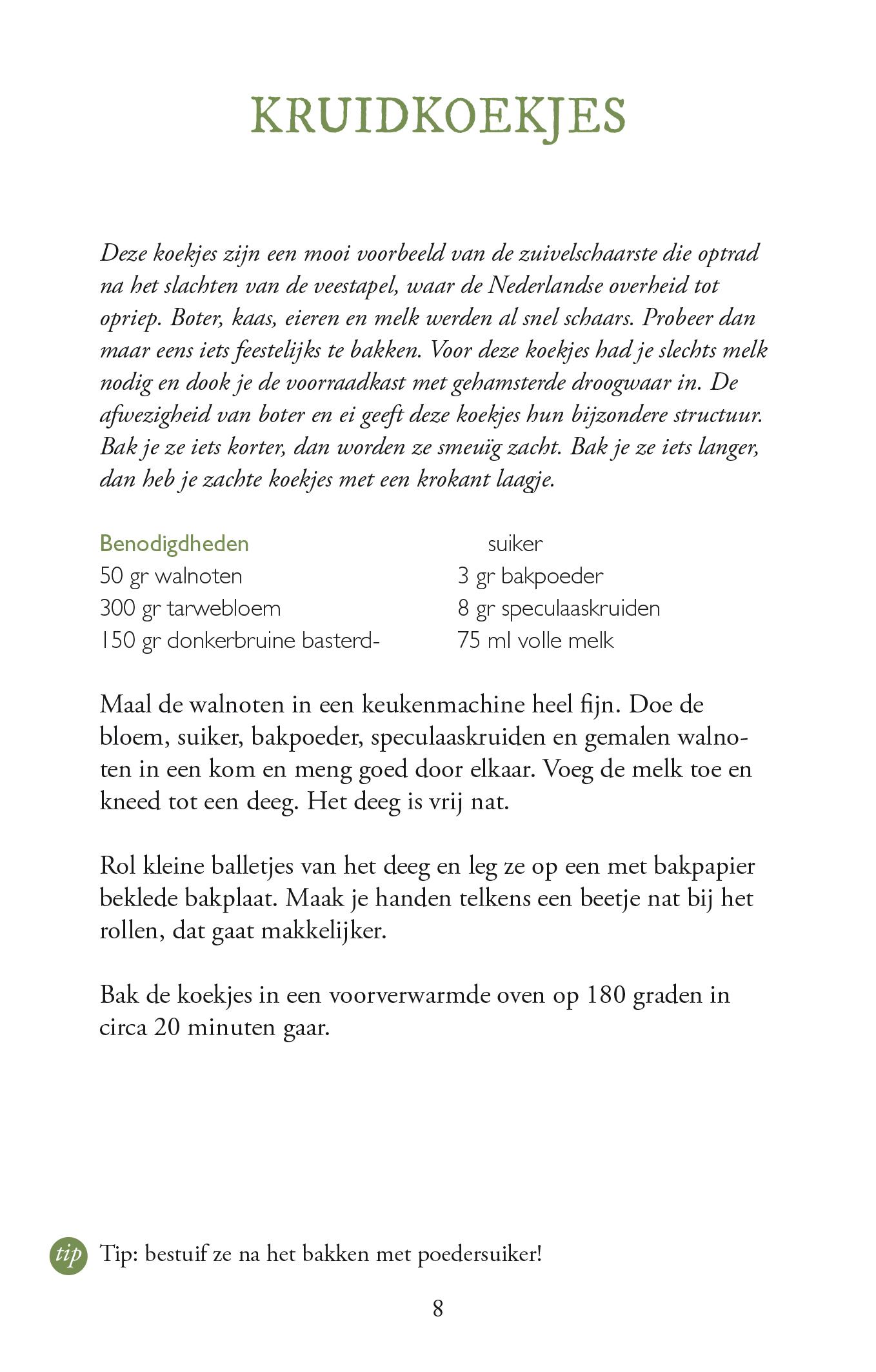 Kruidkoekjes uit Koken in Oorlogstijd