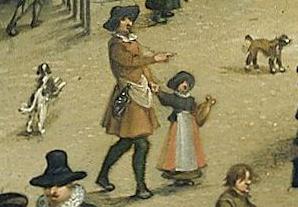 Het Kranenhoofd aan de Schelde te Antwerpen, Sebastiaan Vrancx, 1622