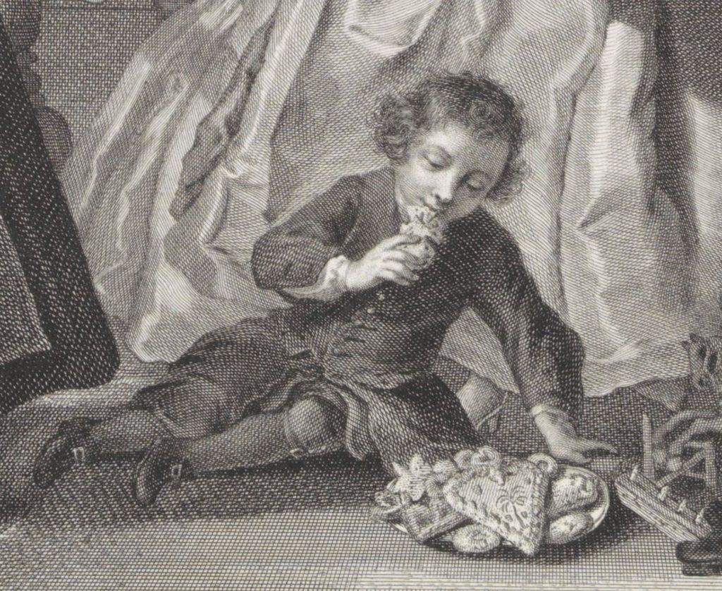 Detail Sint Nicolaasfeest, Jacob Houbraken, 1761