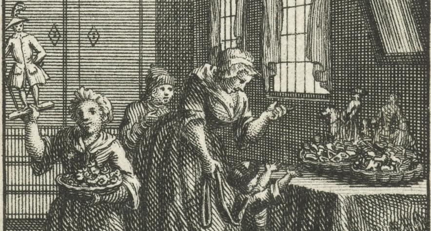Detail uit Sinterklaasavond, Jan-Caspar Philips, 1736-1775