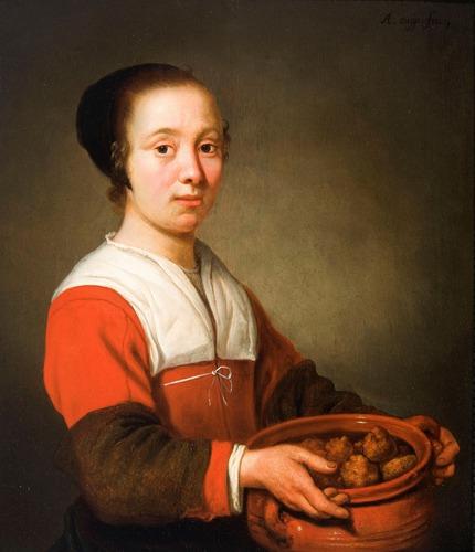 Vrouw met schaal oliebollen, Albert Cuyp, ca 1652, Dordrechts Museum