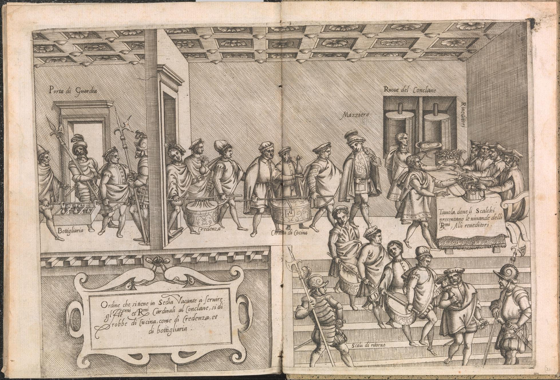 Prent uit Opera van Bartolomeo Scappi. Metropolitan Museum of Art