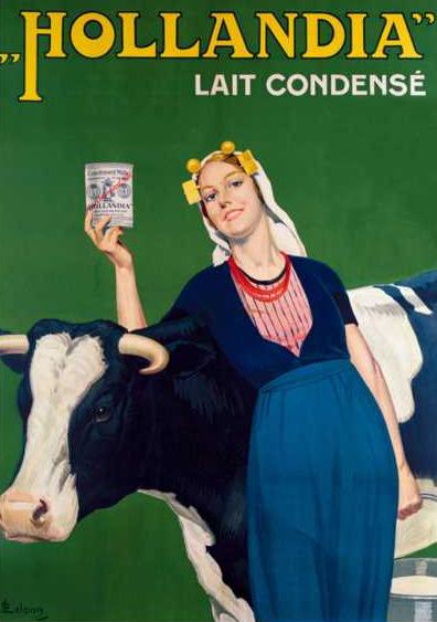 Gecondenseerde melk van Hollandia