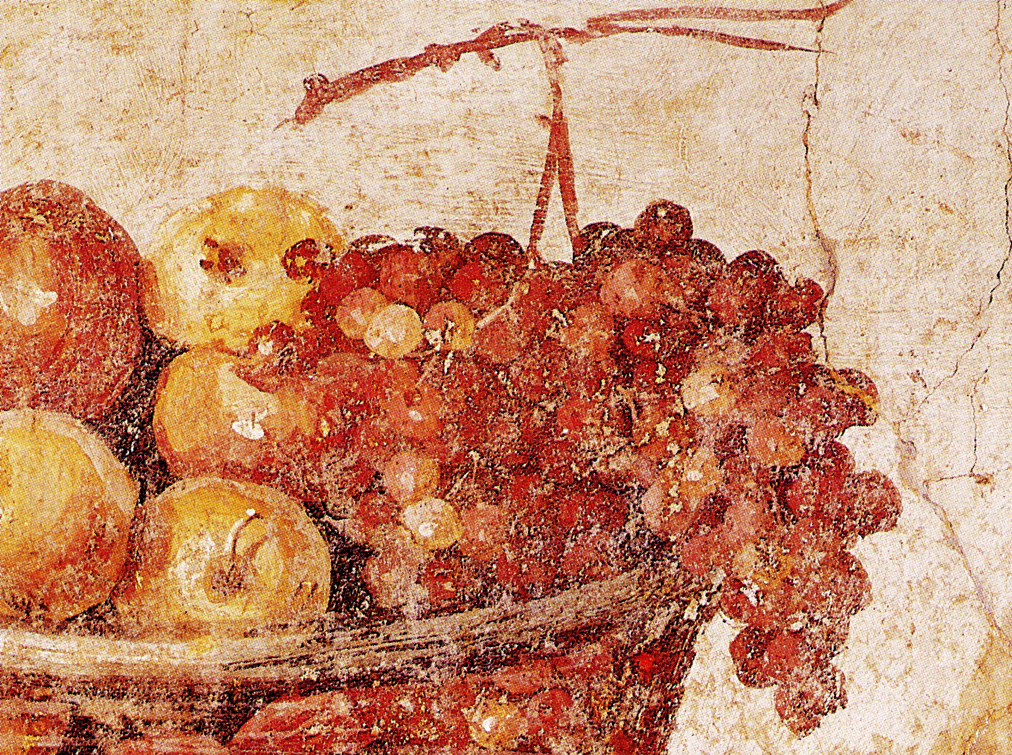 Roman fresco with grapes