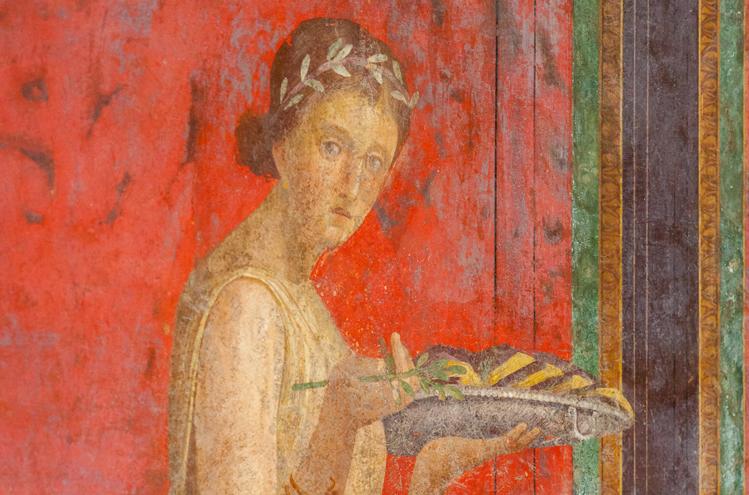Serveerster in Villa dei misteri in Pompeii