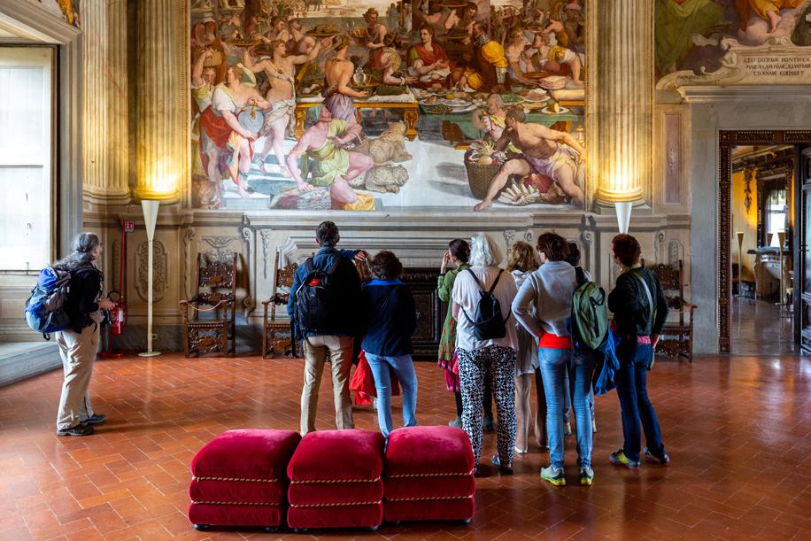 Gigantische fresco's in Renaissance Villa