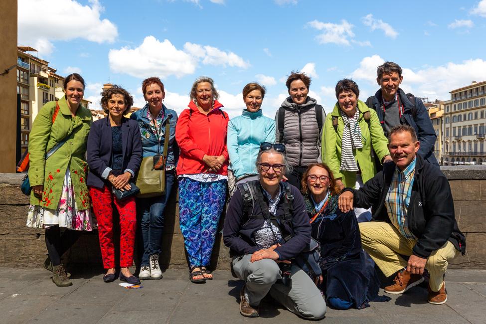 Groepsfoto Historische Kookreis Toscane 2019