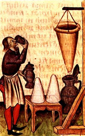 Het maken van Hypocras of kruidenwijn