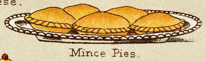 Mince pies Mrs Beeton's Book of Household Management, 1861