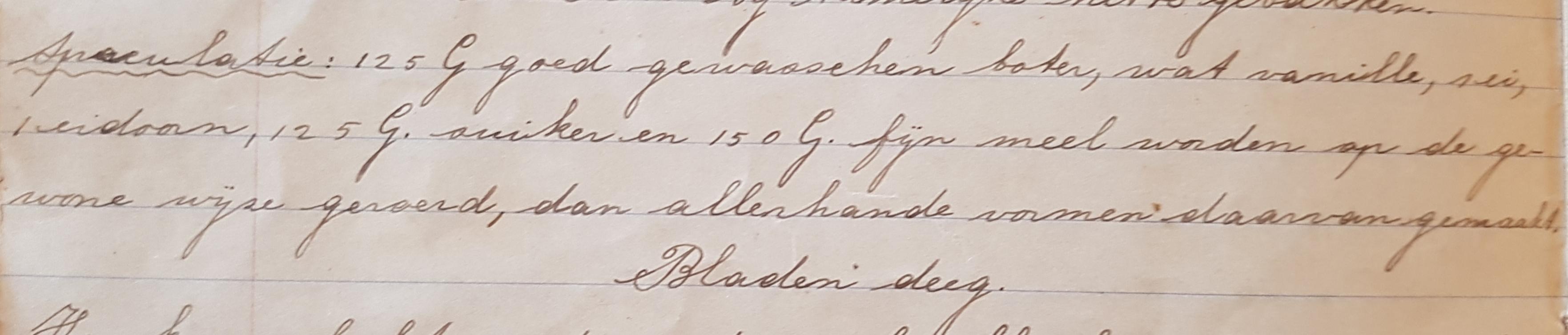 Recept speculatie 1914