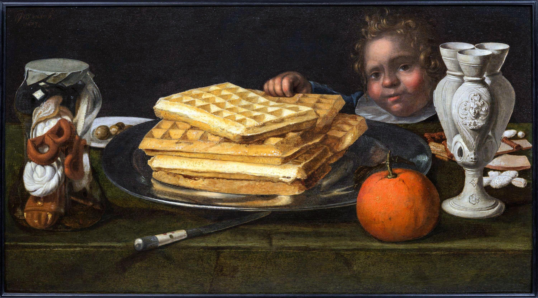 Jan Willemsz van der Wilde, Stilleven met wafels, 1623