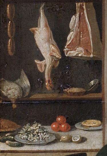 Detail keukenscène door John S.C. Schaak, ca 1765
