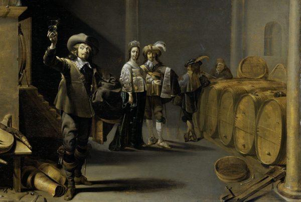 Jacob Duck, De Wijnproevers, ca 1640, Rijksmuseum