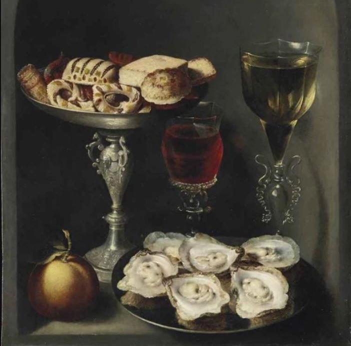 Oesters op schaal, Osias Beert, 17e eeuw, privécollectie